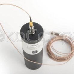 АТ01m - Пример крепления одноканального вибродатчика на виброкалибраторе
