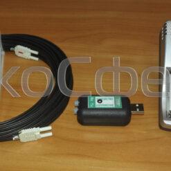 Кабель оптоволоконный, устройство сопряжения с ПЭВМ и зарядное устройство для измерителя СВЧ-излучения П3-42 (с поверкой)