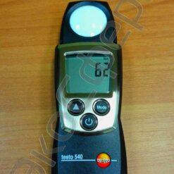 Testo 540 - Режим измерения текущего уровня освещённости на рабочем месте