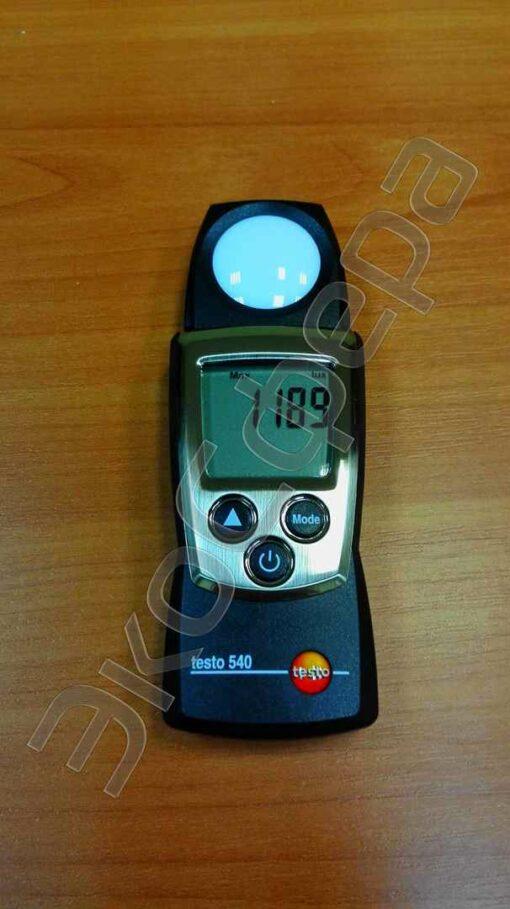 Testo 540 - Режим отображения максимального уровня освещённости на рабочем месте за всё время измерения