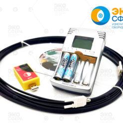 П3-42 - Зарядное устройство, кабель оптоволоконный 10 метров и устройство сопряжения для подключения к ПЭВМ