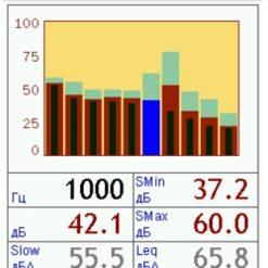 Режим измерения уровня шума в Экофизика. Комплект ЭкоМаксима