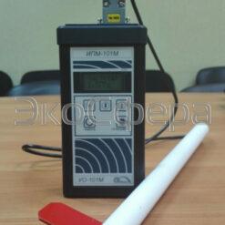 Режим выбора частоты измерения напряженности электрического поля измерителем ИПМ-101М с антенной Е01