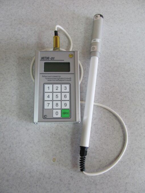 МТМ-01 - Внешний вид изотропного измерителя геомагнитного поля с первичной поверкой