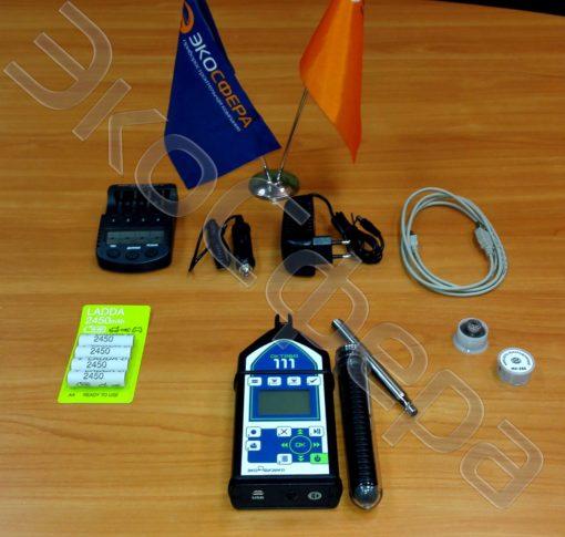 Базовый комплект поставки шумомера ОКТАВА-111-КЛАССИКА с первичной поверкой