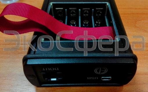 ОКТАВА-121 - Питание шумомера осуществляется от 4 пальчиковых батареек