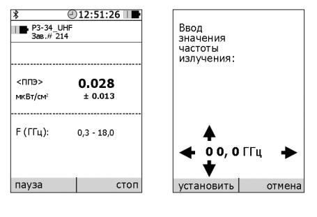 Режимы измерений в индикаторном блоке