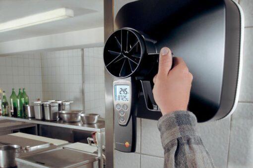 Оценка качества работы вентиляционных систем с помощью термоанемометра Testo 417 в комплекте с дополнительной воронкой
