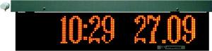 Измеритель-сигнализатор СРК-АТ2327 с информационным табло - Отображение текущего времени и даты