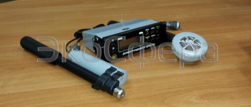 ДРБП-03 - Дозиметр-радиометр в комплекте с измерительным блоком, блоками детектирования БДГ-01 (гамма-излучение), БДБА-02 (альфа и бета излучение) и штангой