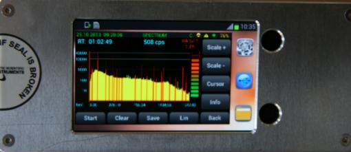 Портативный полупроводниковый ОЧГ спектрометр с азотным охлаждением Эко ПАК - дисплей