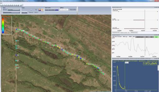 Карта с путевыми точками в программе GARM, входящей в комплект поставки МКС-АТ6101С с поверкой