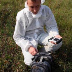 Работа оператора со спектрометром портативным МКС-АТ6101С с первичной поверкой