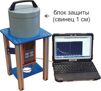 МКС-АТ1125, МКС-АТ1125А - Дозиметр-радиометр - Контроль проб на содержание радионуклидов с использованием свинцовой защиты