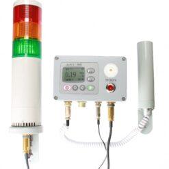 Стационарное исполнение дозиметра ДКС-96 в комплекте с пультом УИК-07, устройством сигнализации ОСС-01 и блоком детектирования
