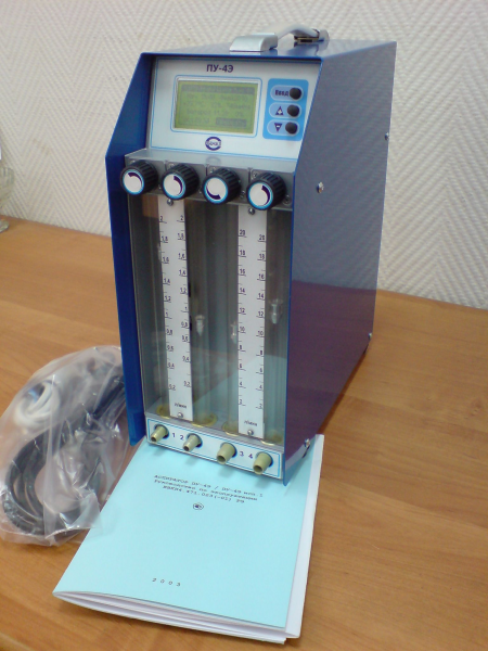 ПУ-4Э - Аспиратор 4-х канальный (0,2-20 л/мин) с поверкой