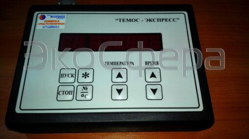 Панель управления комплекса для подготовки пробы ТЭМОС-ЭКСПРЕСС ТЭ-1