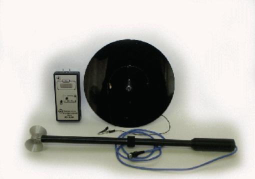 Общий вид измерителя электрического поля ИЭП-05 с поверкой