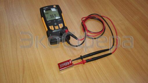 Измерение напряжения кроны с помощью мультиметра TESTO 760-1 (с поверкой)
