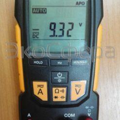 Результаты измерения текущего напряжения мультиметром TESTO 760-1 (с поверкой)