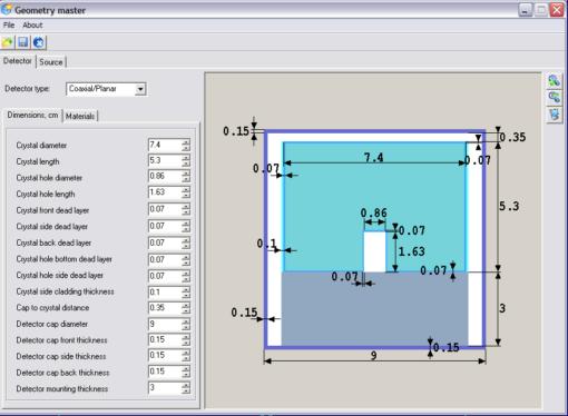NuclideMasterPlus - расчет поправок на каскадное суммирование