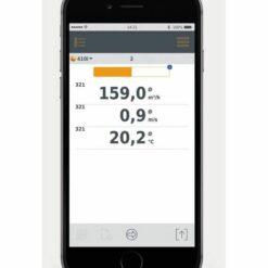 Показания Testo 410 i Cмарт-зонд - Анемометр с крыльчаткой с Bluetooth управляемый со смартфона/планшета