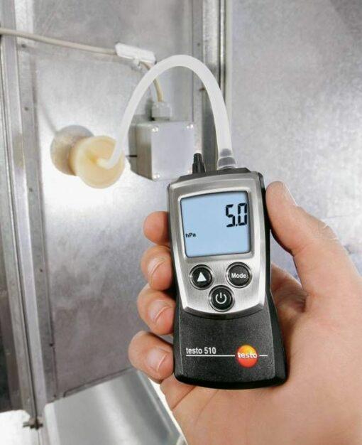 Testo 510 - Дифференциальный манометр с поверкой в работе