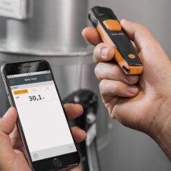 В работе Testo 805 i Cмарт-зонд - ИК-термометр с Bluetooth, управляемый со смартфона/планшета