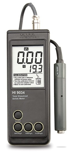 HI9034 - Влагозащищенный измеритель общей минерализации