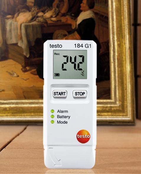 Логгер данных температуры, влажности и ударной нагрузки Testo 184 G1