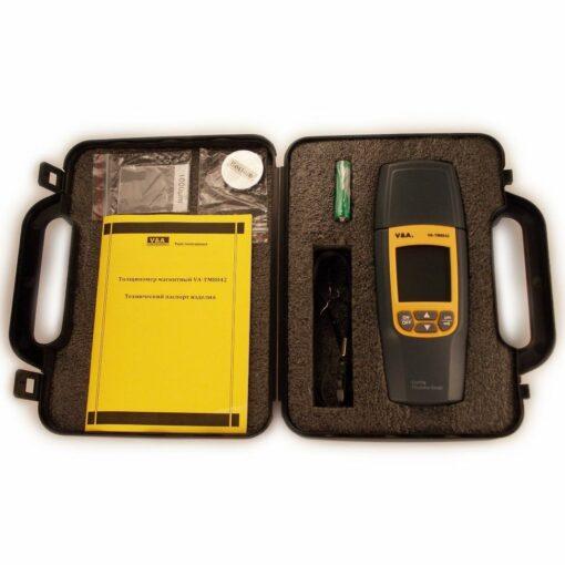 Толщиномер магнитный (лакокрасочных покрытий) VA-ТМ8042 с первичной поверкой комплектация